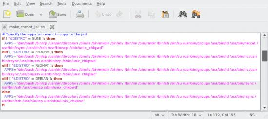 Zmienna APPS w kodzie źródłowym make_chroot_jail.sh