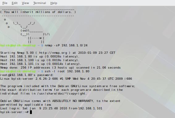 Wyszukiwanie serwera przy pomocy komendy nmap