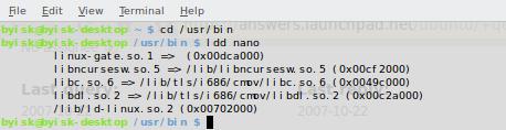Wyszukiwanie potrzebnych bibliotek przy pomocy komendy ldd