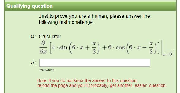 CAPTCHA matematyczne