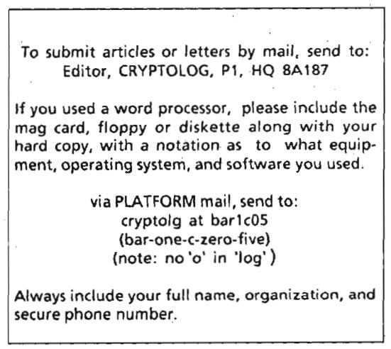 Cryptolog -- kontakt z Redakcją
