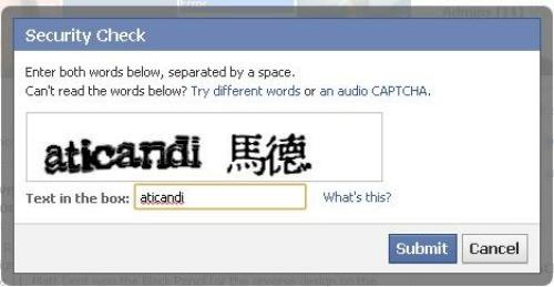 Nasz faworyt -- Facebook CAPTCHA