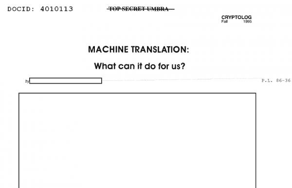 TOP SECRET UMBRA -- ocenzurowane, ściśle tajne dane związane z komunikacją wywiadowczą