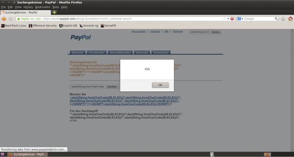 XSS w serwisie PayPal -- demonstracja