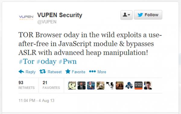 VUPEN potwierdził informacje o ataku 0day