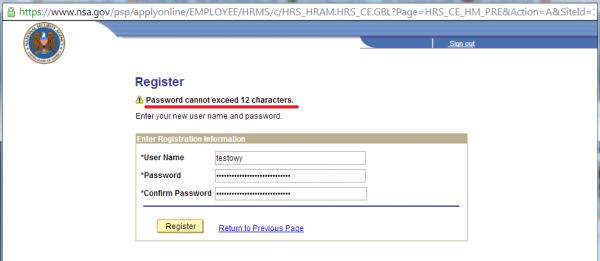 NSA nie lubi zbyt długich haseł?