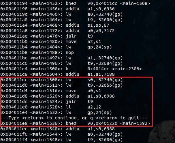 Konsola z uruchomionym klientem gdb. Pokazany algorytm przetwarza wysłane przez nas dane skryptem napisanym w pythonie.