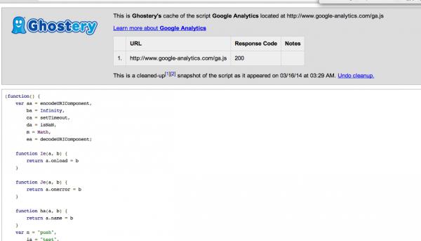 Informacje techniczne o trackerze - url, z którego jest wczytywany oraz kod źródłowy.