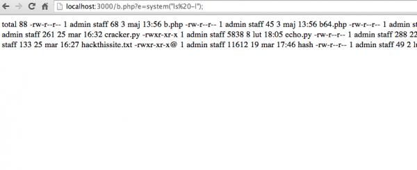 1. Użycie funkcji eval() i przekazanie jej kodu PHP jako argumentu wywołania.