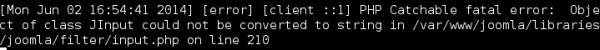 Error: klasy JInput nie można konwertować na string