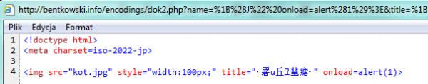 Źródła XSS-a w dok2.php