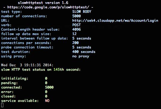 Narzędzie slowhttpheaders w akcji – serwer przestaje odpowiadać!
