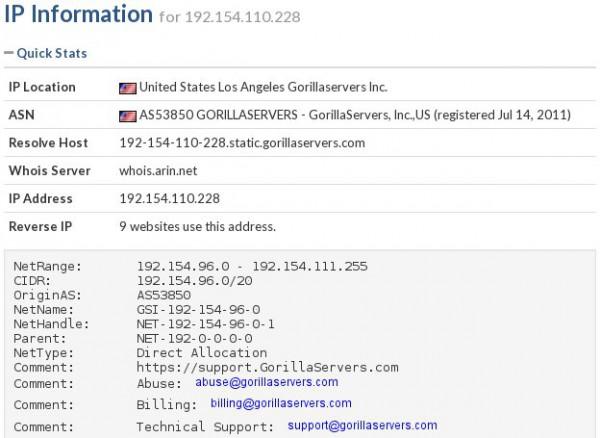 Informacje o adresie IP
