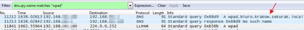 Rys 3. Zapytania DNS/LLMNR