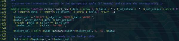 Kod podatny na SQLi, źródło: sucuri.net
