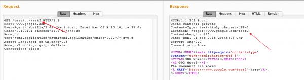 Rys 4. Normalizacja ścieżki przez serwer Google