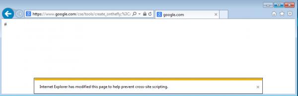 Rys 7. Filtr XSS-owy z IE blokuje wykonywanie skryptu