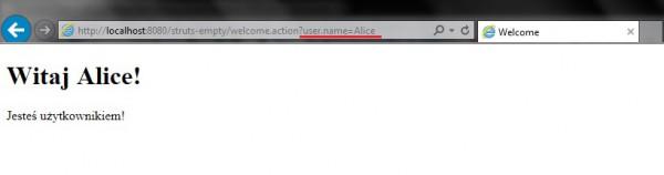 6. Zastosowanie parametru do zmiany nazwy użytkownika.