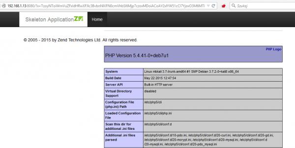 Rys 1. phpinfo() przez deserializację
