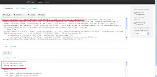Usuwanie niepotrzebnych (lub potrzebnych) deklaracji zmiennych przez JSDetox przy analizie kodu