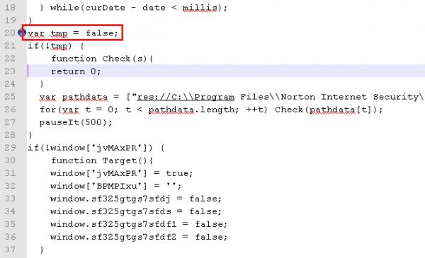 5. Ominięcie sprawdzania kontrolki ActiveX poprzez usunięcie kodu i podstawienie wartości zmiennej na sztywno.