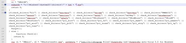 sprawdzanie obecności plików sys jako metoda sprawdzania czy exploit jest wykonywany w środowisku wirtualnym czy realnym.