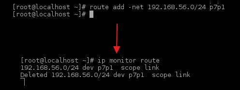 Rys 1. Automatyczne usunięcie dodanej tablicy routingu przez Cisco VPN
