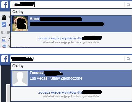Facebook -- wyszukiwanie osób na podstawie numeru telefonu