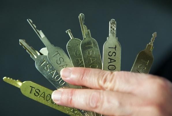 Zdjęcie kluczy generalnych TSA opublikowane przez Washington Post