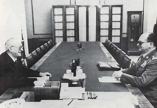 Jurij Andropow na spotkaniu z Wojciechem Jaruzelskim