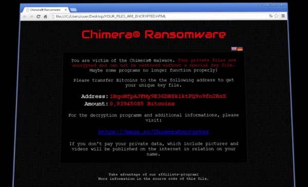 Ransomware Chimera