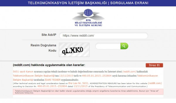 Turecka blokada Reddita