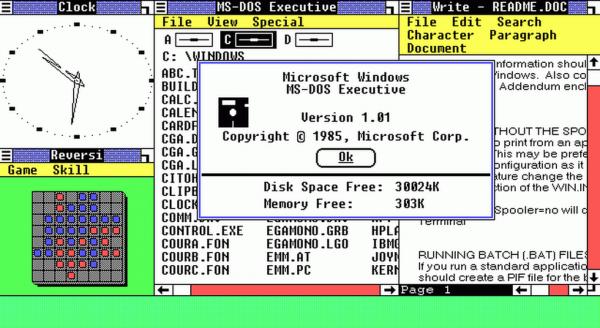 Windows 1.0 (za: verge).