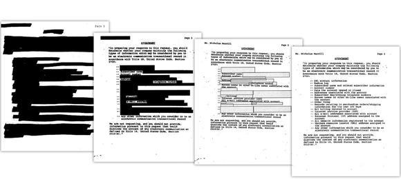 Treść żądania FBI była stopniowo odtajniana na przestrzeni wielu lat (źródło: aclu.org)