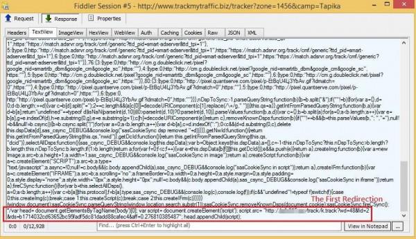 Kod przekierowujący internautów na Anglera
