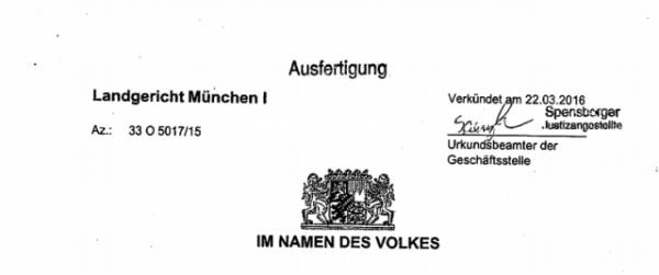 z wyroku niemieckiego sądu