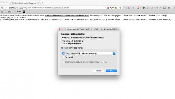 Rysunek 4. Okno dialogowe pobierania pliku w przeglądarce Firefox.