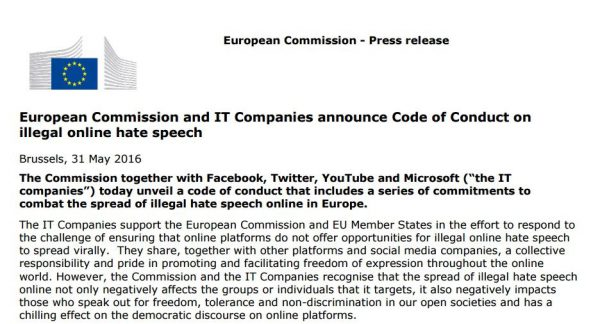Komisja Europejska w walce z mową nienawiści