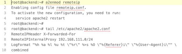 Rys. 3 Konfiguracja serwera Apache