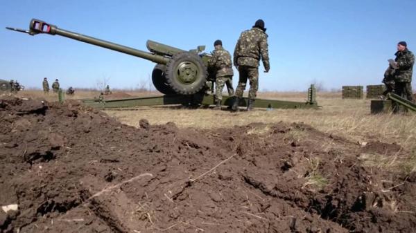 Ukraińska artyleria D-30 w akcji