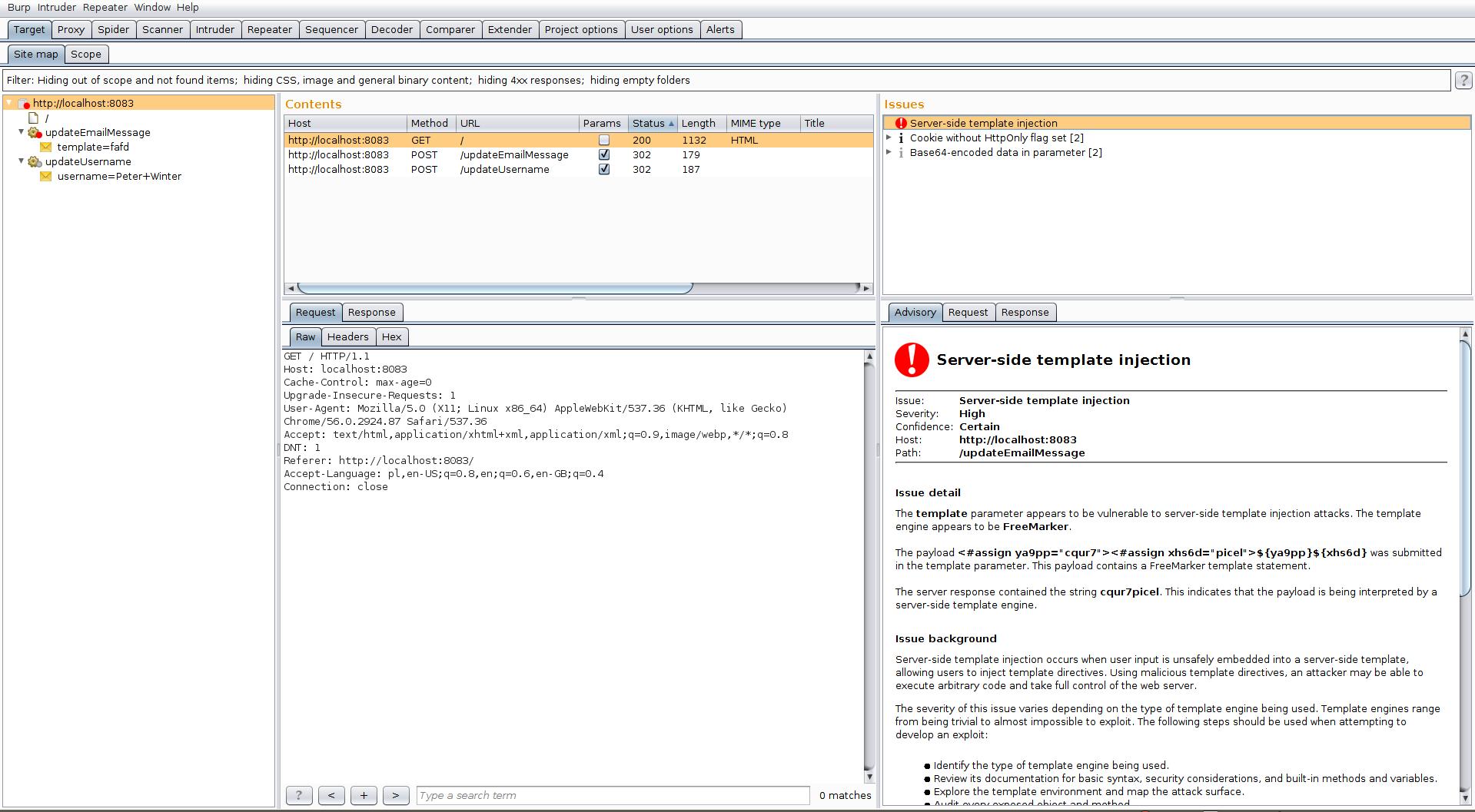Podatność Server-Side Template Injections