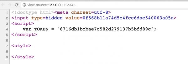 """Rys 1. Kod HTML przykładowej """"podatnej"""" strony"""