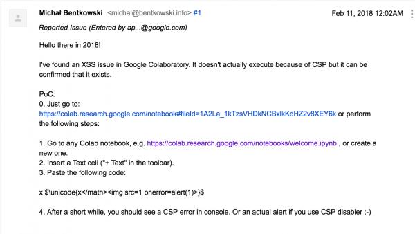 Rys 4. Zgłoszenie błędu do Google'a
