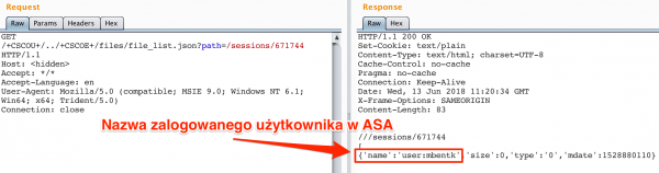 Rys 5. Wydobycie loginu zalogowanego użytkownika