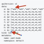 Oto bomba YAML-owa potrafi zniszczyć API Kubernetesa